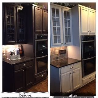 One Kitchen Cabinet amy howard at home before & after kitchen cabinets - luxe grey one