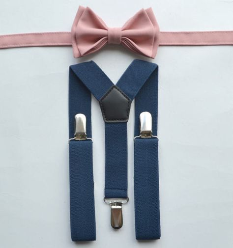 Patterned Kids Clip Suspenders Pink Baby Insects