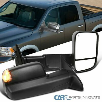 Sponsored Ebay For 09 12 Ram 1500 Power Heated Auto Folding Tow Mirrors Led Puddle Ram 1500 Towing Mirror Towing