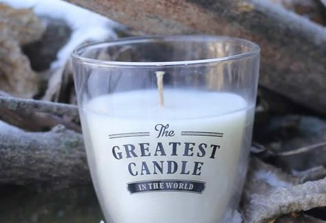 The Greatest Candle In the World: from used cooking oil to wax