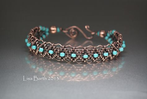 Just finished the tutorial for this bracelet.    With the techniques in this tutorial, you can create an unlimited array of designs.  I am still exploring and having a great time with it.  Here is the link:  https://www.etsy.com/listing/129803075/copper-woven-bracelet-tutorial?  Thanks so much!