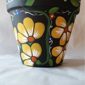 42 Fresh Clay Flower Vase Painting Designs Painted Flower Pots