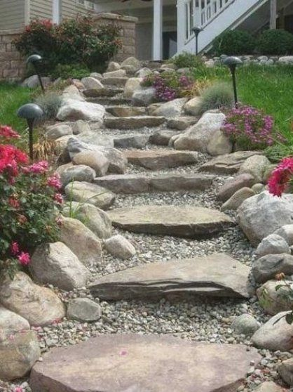 This Is How You Put Up A Privacy Fence Make A Hill And Plant It Landscaping With Rocks Rock Garden Landscaping Landscaping On A Hill