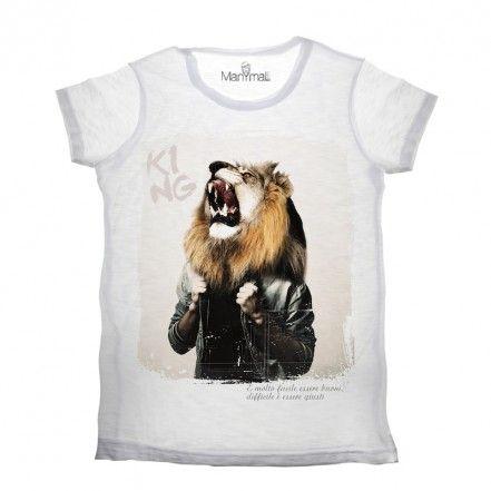 T-shirt uomo Leone by Manymal