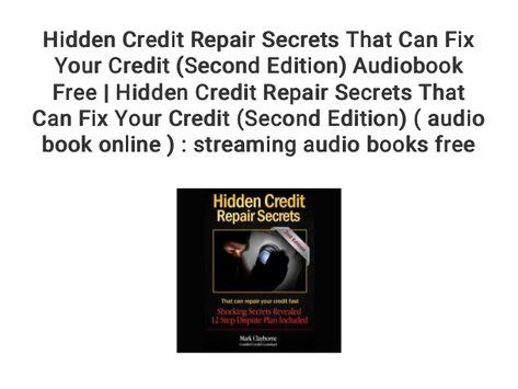 Hidden Credit Repair Secrets That Can Fix Your Credit