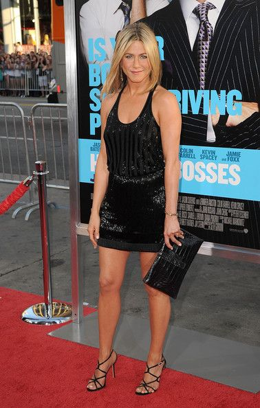 Wearing Beaded Balenciaga At The 'Horrible Bosses' Premiere In Hollywood - Jennifer Aniston's Most Daring Red Carpet Moments - Photos