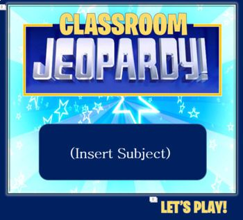 Jeopardy Template 2 Rounds Keep Score Up To 6 Teams Music