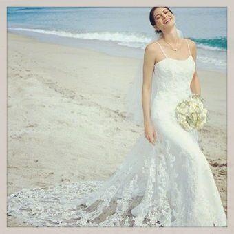 Vestidos de novia corte sirena para playa