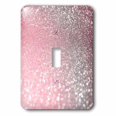 3drose 1 Gang Toggle Switch Wall Plate Plates On Wall Light Switch Glitter Print