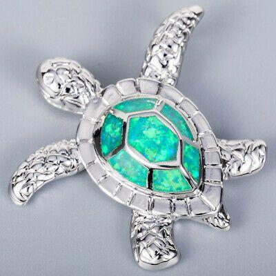 3 Plumeria Kiwi Green Fire Opal Silver Jewelry Necklace Pendant