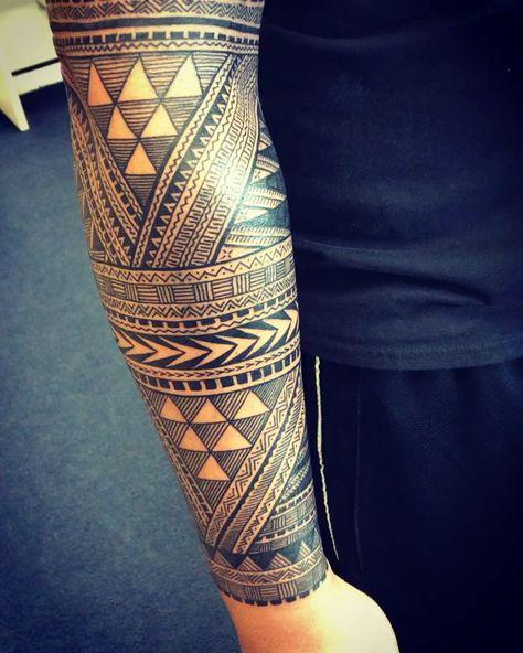 Hawaiian styled forearm tattoo by Michael Fatutoa
