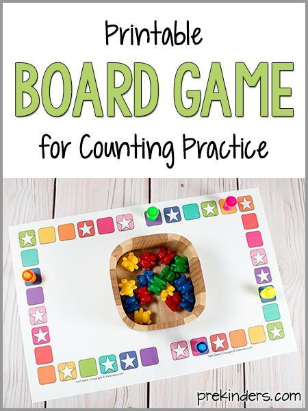 Teach Counting Skills With This Board Game Prekinders Math Board Games Preschool Board Games Preschool Games