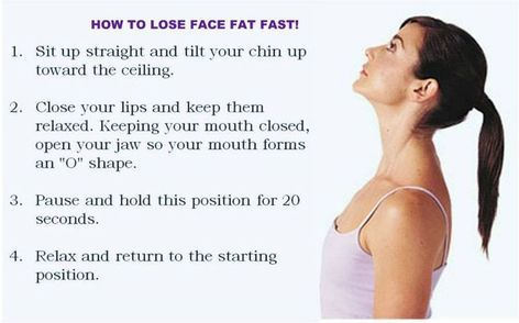 How to reduce face fat