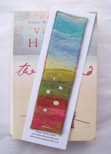 felt bookmark by Aileen Clarke