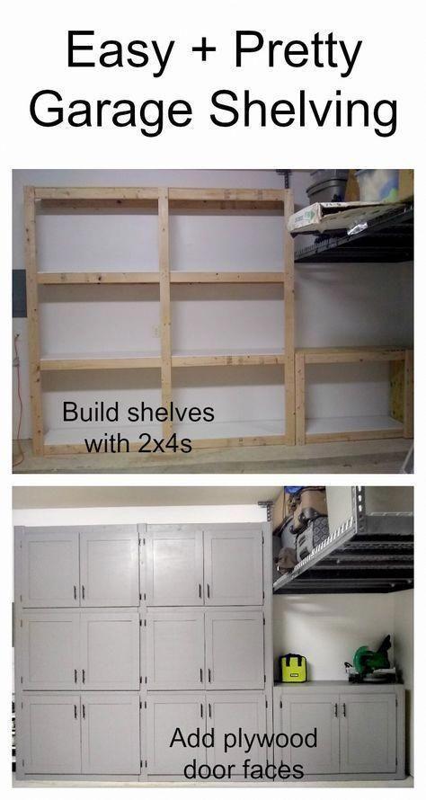 Diy Garage Shelves Storage, White Wood Garage Storage Cabinets
