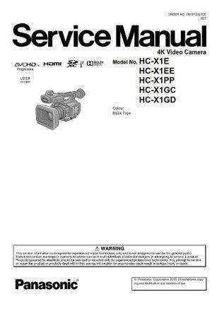 Panasonic Hc X1 Hd Pro Camcorder Service Manual Repair Guide Panasonic Camcorder