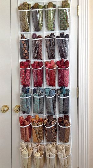 quarter storage ideas Drowning in fat quarters? Try this trick from bestselling author Kim Diehl—and give fat-quarter clutter the boot!Drowning in fat quarters? Try this trick from bestselling author Kim Diehl—and give fat-quarter clutter the boot!