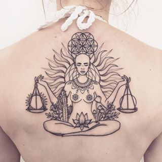 Did This Libra Goddess For Tayla Earlier This Week Thanks Girl Was Lovely Meeting You Done At Wolfandwre Goddess Tattoo Libra Tattoo Chest Piece Tattoos