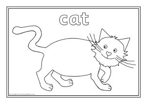 View Preview Cat Template Coloring Pages Farm Animal Coloring Pages