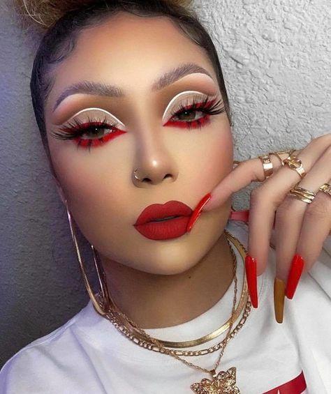 Dope Makeup, Baddie Makeup, Eye Makeup Art, Fall Makeup, Pretty Makeup, Eye Art, Makeup Eyeshadow, Eye Makeup Designs, Dark Skin Makeup