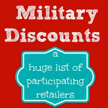 Our Secondhand House: Military Discounts...At These Retailers