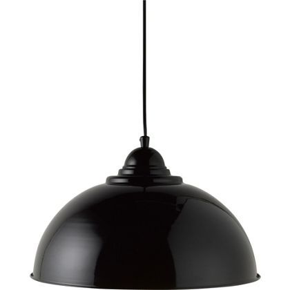 Homebase Living Kit Half Dome Pendant Light Black 24 99