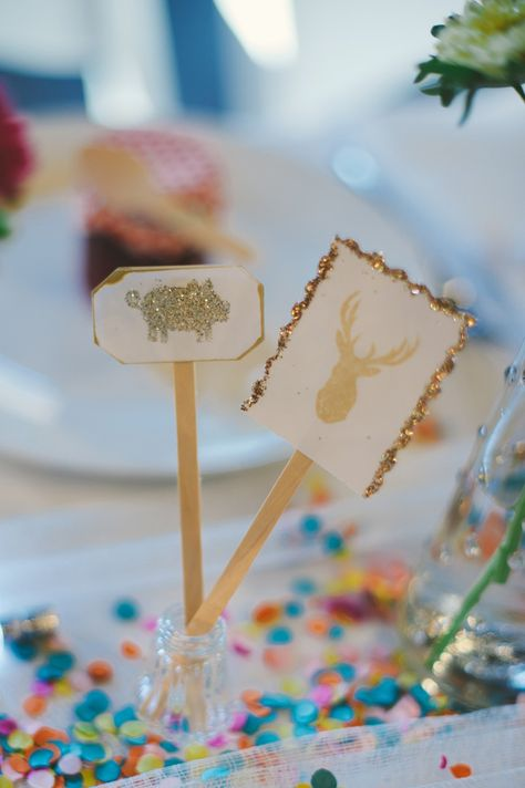 confetti + glitter! // photo by Sarah Maren // View more: http://ruffledblog.com/confetti-filled-california-wedding/
