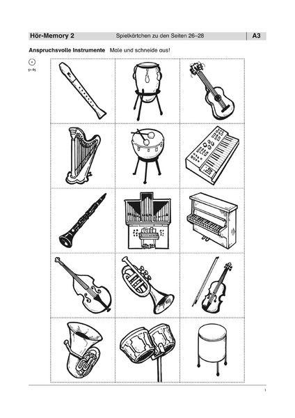 25 Beste Arbeitsblatt Instrumente Arbeitsblatter Instrumente Kinder Lernen
