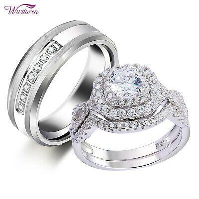 Ad Ebay Link Wedding Rings Set For Him And Her Women Men