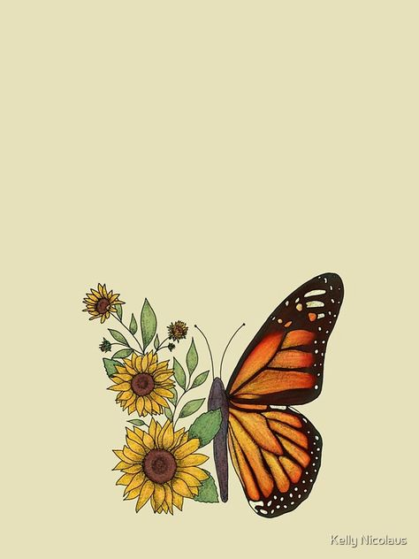 Sunflower Tattoo Small, Sunflower Art, Sunflower Tattoos, Sunflower Quotes, Sunflower Pictures, Smal Tattoo, Butterfly Art, Butterflies, Butterfly Tattoo On Shoulder