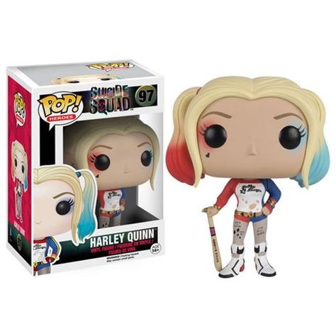 Funko Harley Quinn Pop Vinyl figure from the new Suicide Squad movie. Brought to you by Pop In A Box, the site Funko Pop! Vinyl shop