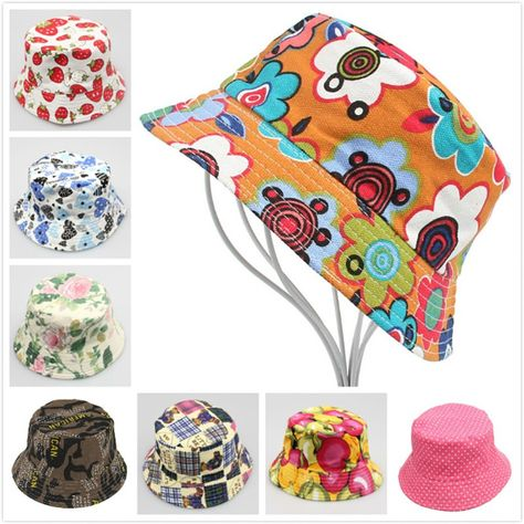 319de6d0b85 30 Design Children Girls Floppy Beach Sun Caps Snapback Baby Boy Bucket Hat  Canvas Kids Fashion Hip Hop Bonnet Hats Drop
