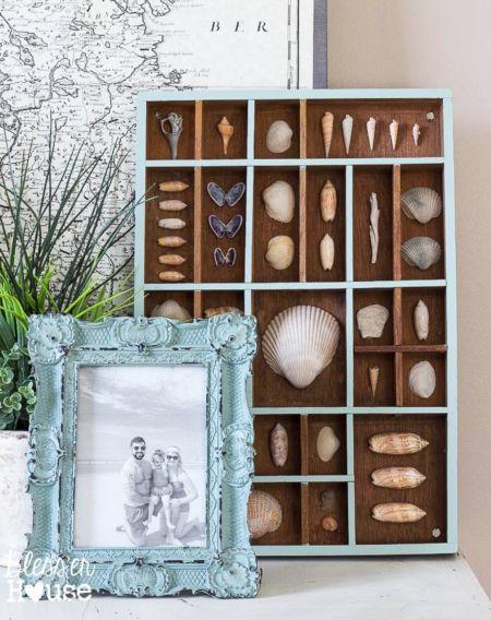 Printer Trays Cubby Organizers For Seashell Displays Beach Memories Printers Tray Diy Shadow Box Diy Beach Decor