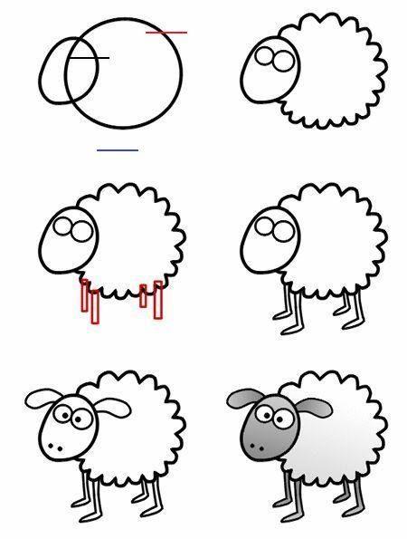 Drawing A Cartoon Sheep Comicsandcartoons Learn How To Draw A Smooth Cartoon Sheep To Help You F Tiere Malen Schaf Zeichnen Einfache Niedliche Zeichnungen