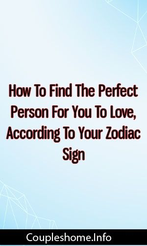 how to find the perfect person