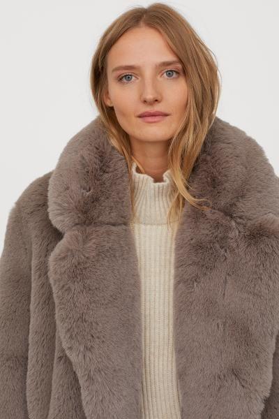 Faux Fur Coat Grey, Faux Fur Coat Company