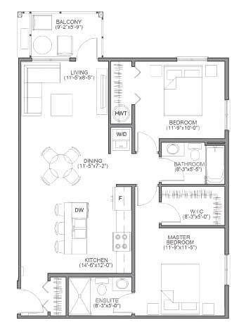 Theassiniboine Floorplan Http Thecharles Streetsidewinnipeg Com Floor Plans House Plans Small House Bliss