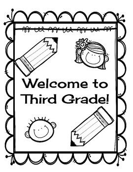 Welcome To Third Grade Back To School Activities Welcome To