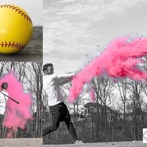 Gender Reveal Softballs Etsy In 2021 Baseball Gender Reveal Gender Reveal Gender Reveal Party Decorations