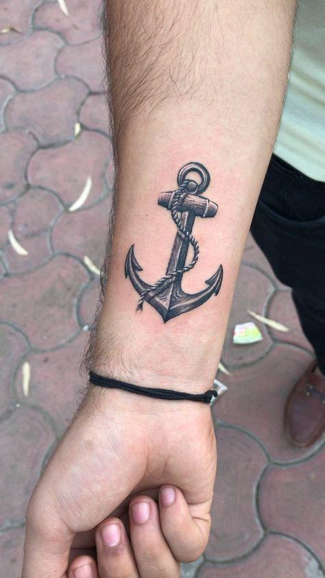 Anchor tattoo #ankertattoo Anchor tattoo by Akash Chandani  @the_inkmann   SKIN MACHINE TATTOO STUDIO | Bhopal | India