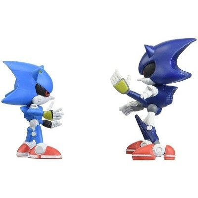 Tomy Sonic Collector Series Figure 2 Pack W Comic Classic Modern Metal Sonic