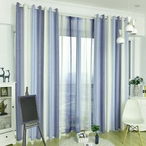 White And Steel Blue Curtains Striped Ombre Mediterranean Drapes In 2020 White Drapes Living Room Blue Curtains Living Room Blue Curtains