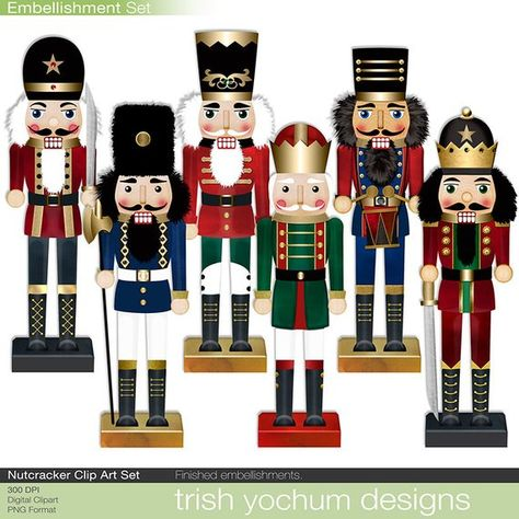 Christmas Clipart Nutcracker - Digital Holiday Scrapbook Printable - Christmas Solider Digital graphics - PNGs - Instant Download Christmas Nutcracker Clipart colored in reds, greens, blues and golds bursting with the spirit of the season. The Nutcracker Clipart Digital set is a