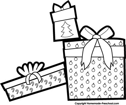 Christmas Star Clip Art Black And White