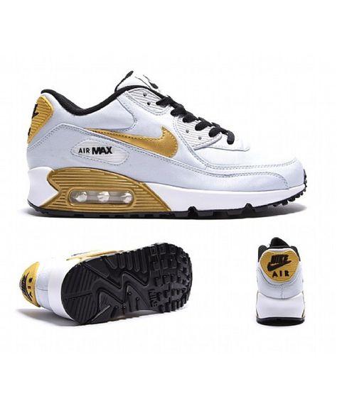 Cheap Nike Air Max 90 Junior White Gold