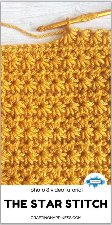 The star stitch is one of the prettiest patterns I�ve ever worked with. Although it looks complicated, it�s actually an easy stitch to crochet once you know where to insert your hook.  #crochetblankets #crochetafghans #crochetgrannysquares #cr