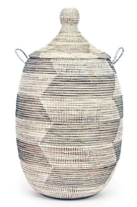 Swahili African Modern Large Silver And White Prayer Mat Hamper In