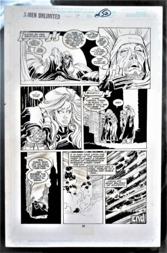 X Men Unlimited 7 Final Page Original Art Storm Jean Grey Gambit By John Romita Comic Book Pages Comic Book Artists Comic Books