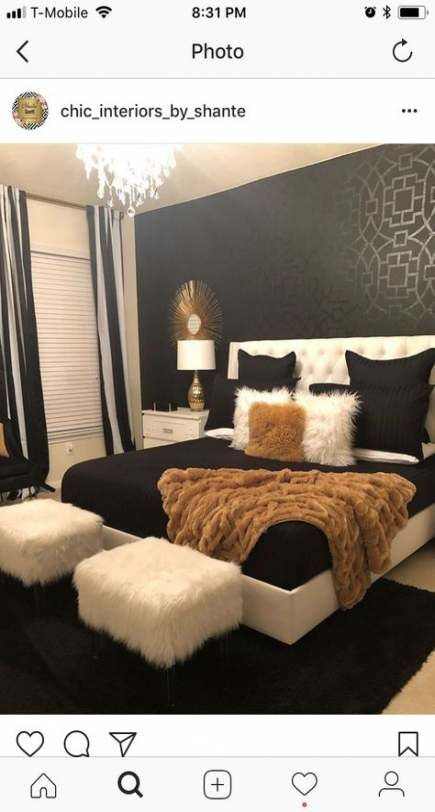 64 Trendy Bedroom Grey Gold Silver Girl Rooms Grey And Gold Bedroom Black Wallpaper Bedroom Gold Wallpaper Bedroom