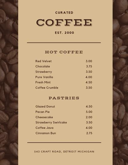 Mint Coffee Shop Menu Templates By Canva Coffee Shop Menu Cafe Menu Design Coffee Menu